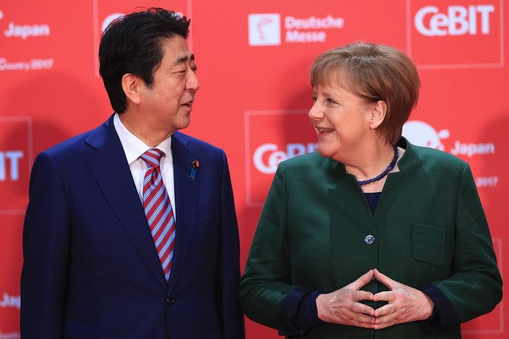 Merkel, Abe Call for EU-Japan Deal to Stem Trade Barriers.(March 20th 2017)