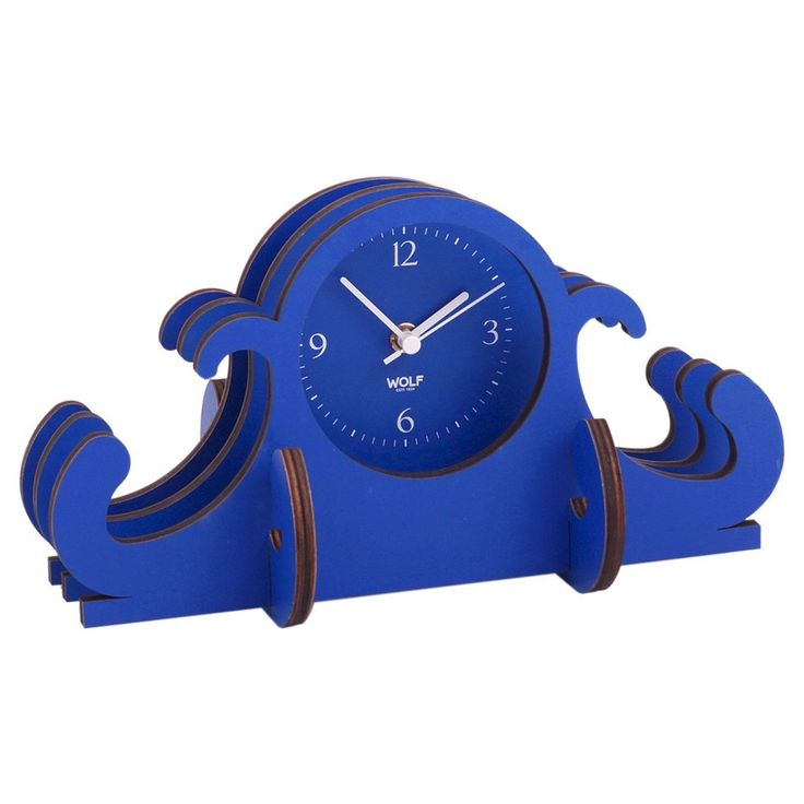 wolf jigsaw mantel table clock blue - Mantel Der Ideen Mit Uhr Verziert