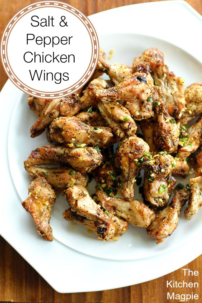 I'm going to be bossy. MAKE THESE NOW. Oh em gee. These Salt and Pepper Chicken Wings are the best wings I have ever made! They are easy, fast and most importantly, freaking delicious! | The Kitchen Magpie #recipes #chicken #summer #chickenwings