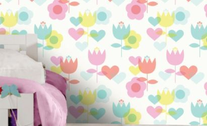 Kaylee Floral Wallpaper in Multicolour, b&q