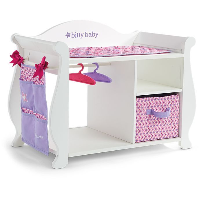 American Girl Bitty's Changing Table | Adley adores her bitty baby Penelope that she got for Christmas, and will be receiving this  changing table, and the cradle for her birthday in February