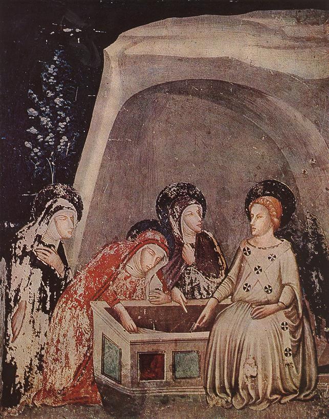 BASSA, Ferrer Three Women at the Tomb c. 1346 Fresco Monastery of Pedralbes…