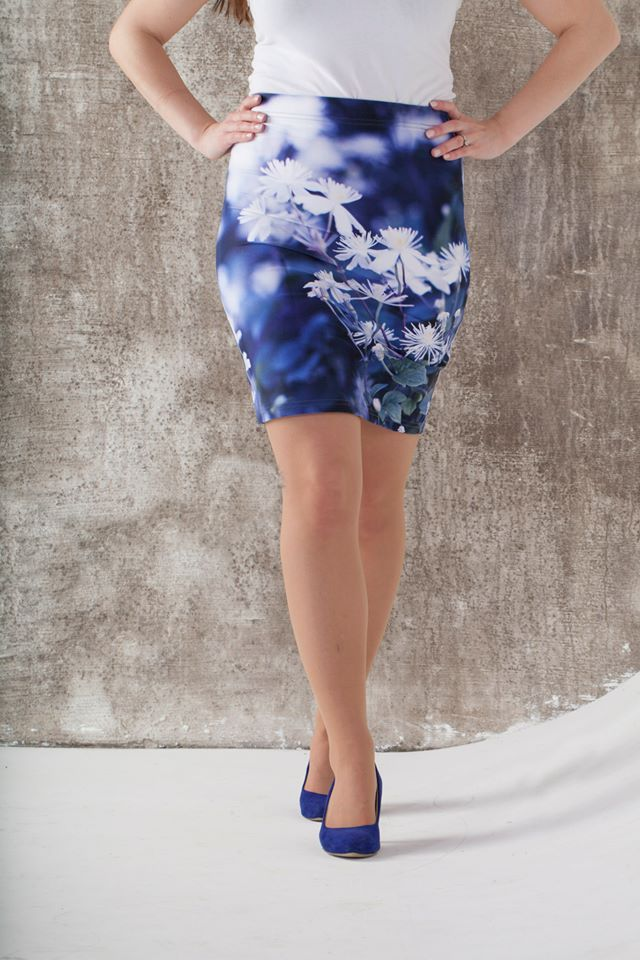 Blue August - my favourite pencil skirt! Inspired by the Norwegian nature. Designed by Jeanette Nilssen.