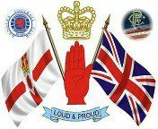 the Ulster flag & the Union flag