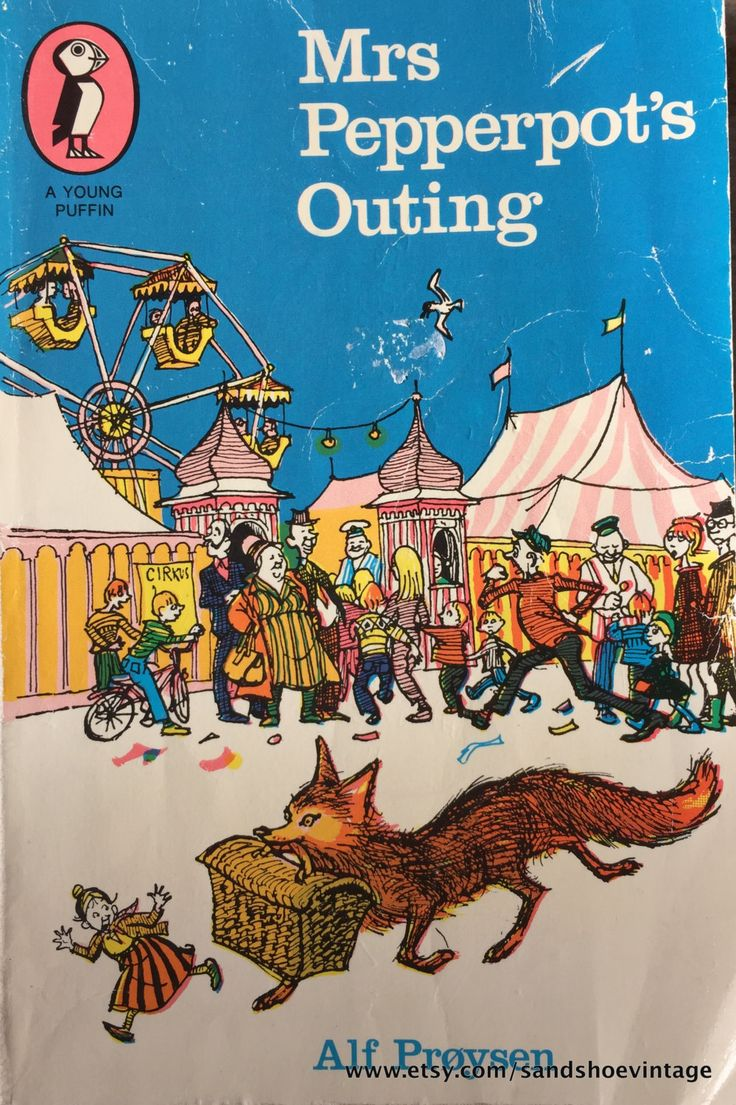 1971 Mrs Pepperpot Outing By Alf Proysen Penguin Puffin Book By  Sandshoevintage On Etsy