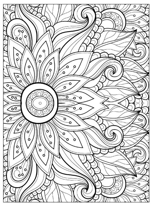 21 Awesome Image Of Flower Coloring Pages Entitlementtrap Com Detailed Coloring Pages Mandala Coloring Pages Printable Flower Coloring Pages