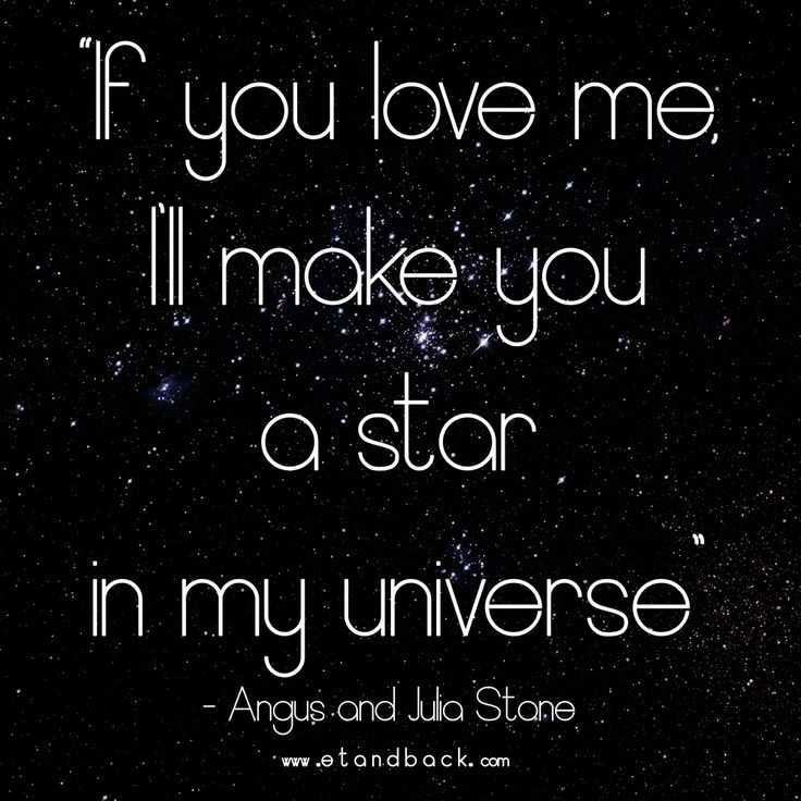 If you love me, I'll make you a star in my universe - For You, Angus and Julia Stone #juliastone #foryou #downtheway #love