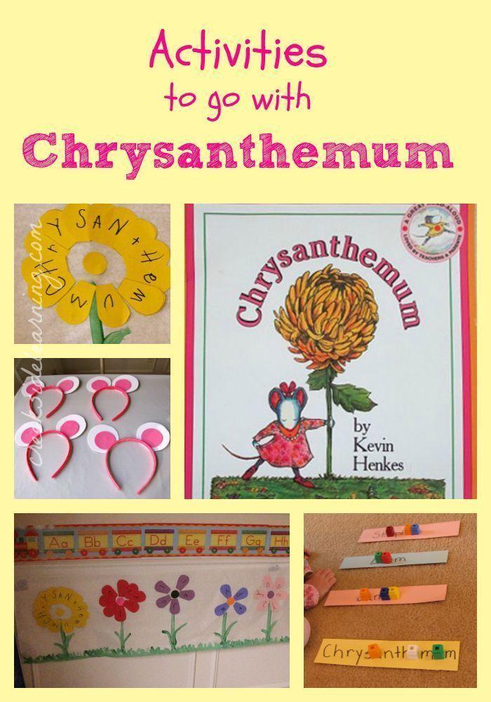 Chrysanthemum Activities for first week of school. Preschool, Kindergarten, 1st grade, 2nd grade, 3rd grade.
