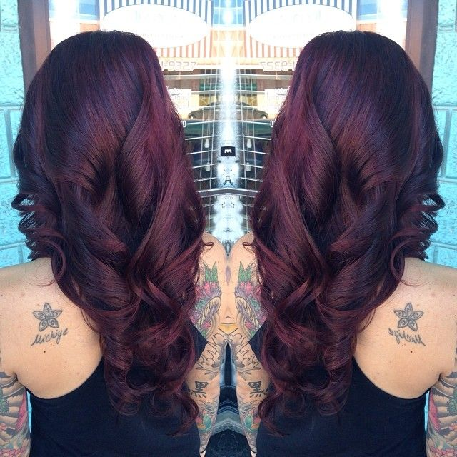 I love this!!!     Level 2 dark brown / color correction and toned to a level 6 violet red.