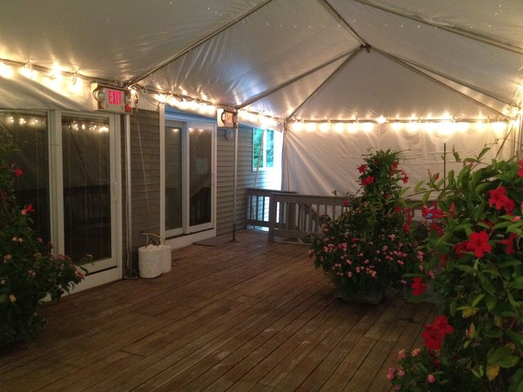 15 x 25 Frame tent installed on deck with string lighting | Residential Rentals | Pinterest | Tents & 15 x 25 Frame tent installed on deck with string lighting ...