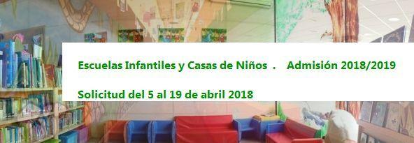 Plazo solicitud escuelas infantiles y casas de niños