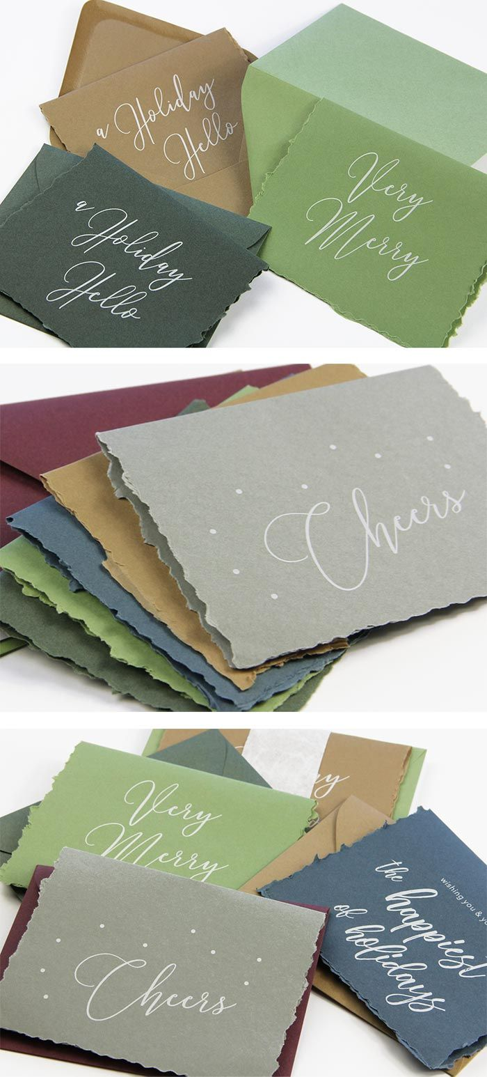 34 best greeting cards inspiration images on pinterest greeting handmade hand deckled holiday cards make your own holiday cards by printing then kristyandbryce Image collections