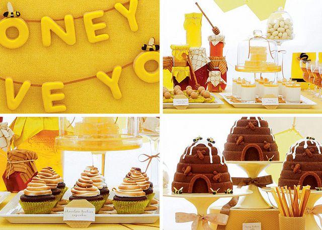 Such a sweet dessert table from Amy Atlas via Bakerella