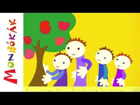 Hüvelykujjam almafa (mondóka, rajzfilm gyerekeknek) - YouTube