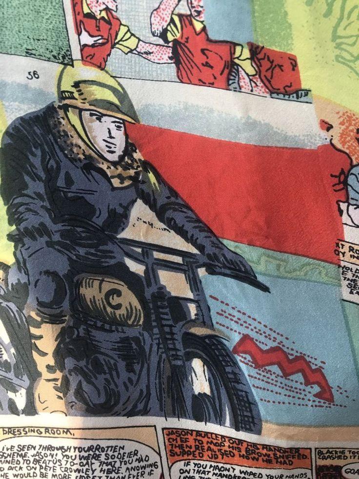 Vtg Soccer Shirt XL British Football Roy Rovers Triumph Motorcycle Silk Club #SilkClub #ButtonFront