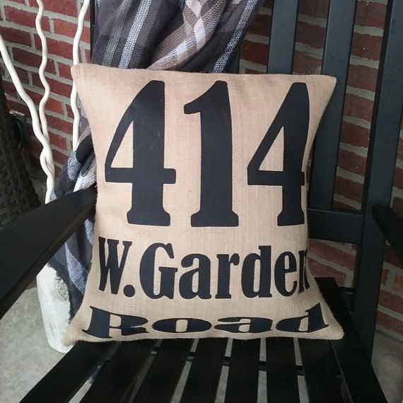These classic pillow covers never go out of style! They make a beautiful addition to any space and go with all decor. Pillows shown in first several pictures are 18 x 18 size in off-white indoor fabric with black writing. Burlap is also available in tan/natural (shown in 414 picture),