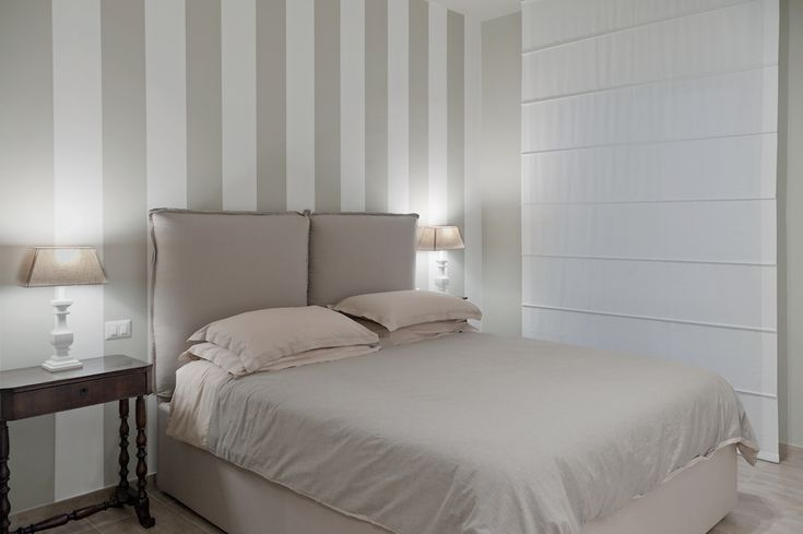 bedroom stripes light beige