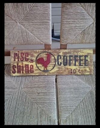 sign made from old board...
