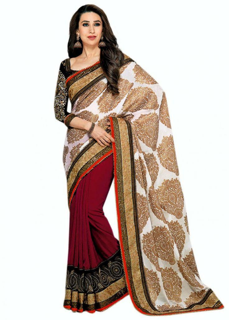 2014 DESIGNER SAREE COLLECTION | Karishma Kapoor Saree Collection 2013-2014 | Designer Sarees For Party ...