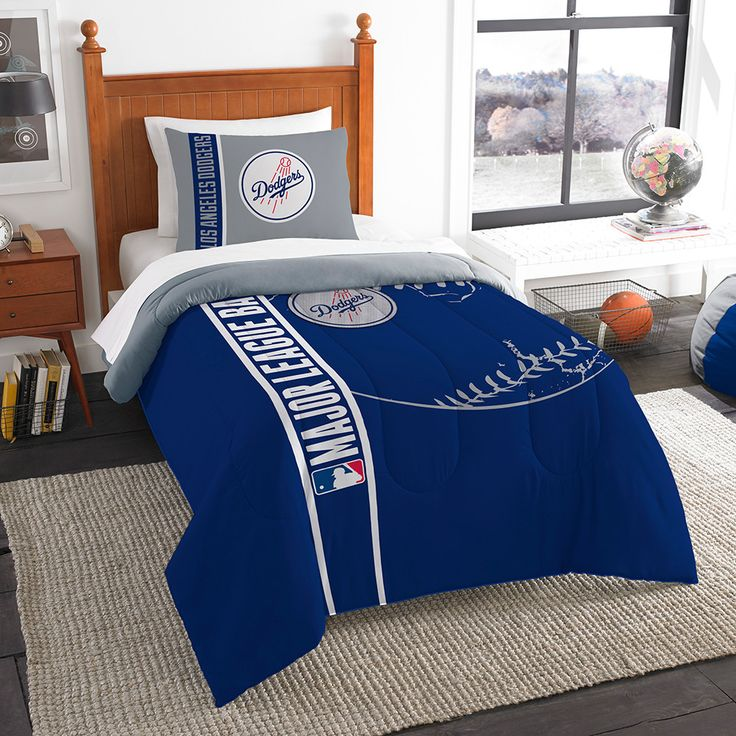 Los Angeles Dodgers MLB Twin Comforter Set (Soft & Cozy) (64 x 86)