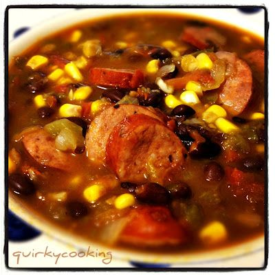 Quirky Cooking: Mexican Black Bean & Chorizo Soup