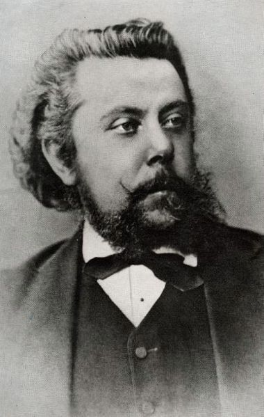 "Modest Mussorgsky (21 Mar [O.S. 9] 1839 – 28 Mar [O.S. 16] 1881) was a Russian composer, and a member of the New Russian School of Composers. An innovator of Russian music in the Romantic period, he strove to achieve a new sound in deliberate defiance of the Western musical standards. His works include the opera ""Boris Godunov"", the orchestral tone poem ""Night on Bald Mountain"", & the piano suite ""Pictures at an Exhibition."""