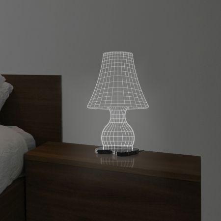Abajur é uma incrível luminária estilizada. Desenhada com linhas que proporcionam ilusão ótica que engana os olhos de quem a admira o item se trata de uma peça de acrílico de 8mm. Se encante com esta fabulosa luminária exclusiva Fábrica da Moldura!   Composição   Material: Acrílico, iluminação em LED e cabo com saída USB.  Dimensão: 20x13x30cm   Cuidados: Para limpeza utilize apenas flanela macia com água, sabão ou detergente neutro. Nunca use solventes, esponjas ou abrasivos.