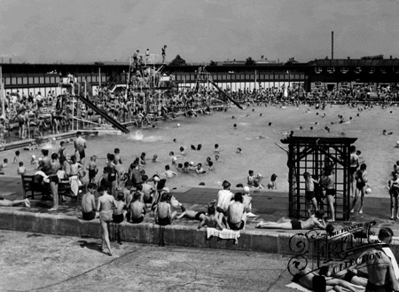 The Open Air Swimming Pool c1955, Enfield