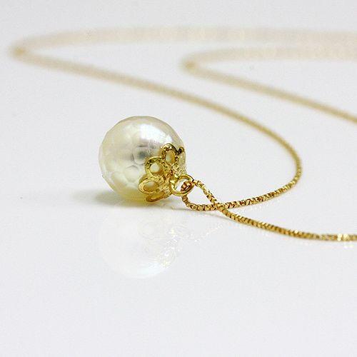 hirondelle k18 hn-332 華真珠ネックレス 01