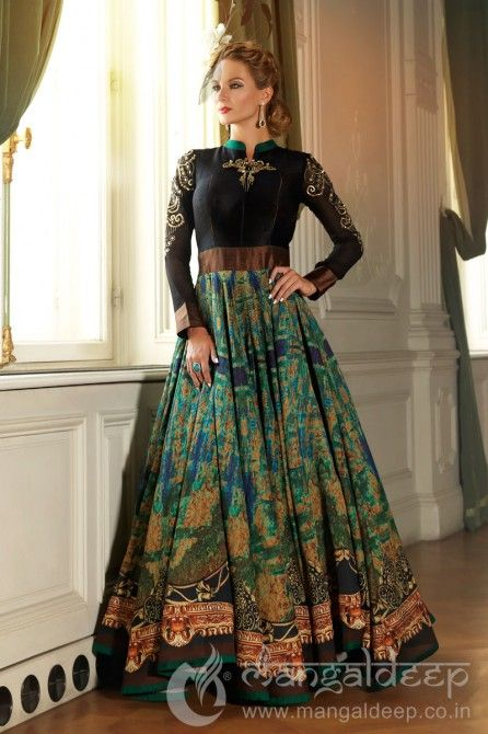 http://www.mangaldeep.co.in/salwar-kameez/ready-made-salwar-kameez/splendid-green-bhagalpuri-silk-readymade-anarkali-suit-6390 For more details contact us : +919377222211 (whatsapp available)