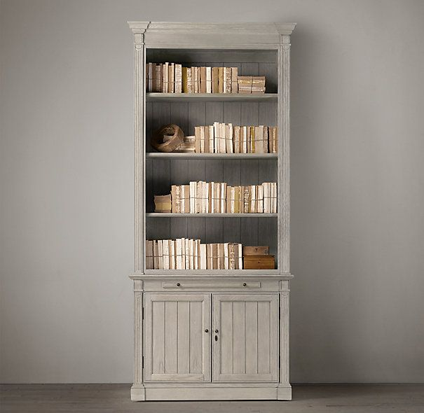 Library Single Bookcase Restoration Hardware Office