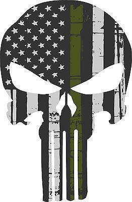 Punisher Skull Bandera Americana Verde Oliva Militar Sticker Gráficos-Gran Variedad De Tamaños in eBay Motors, Piezas y accesorios, Piezas para autos y camionetas   eBay