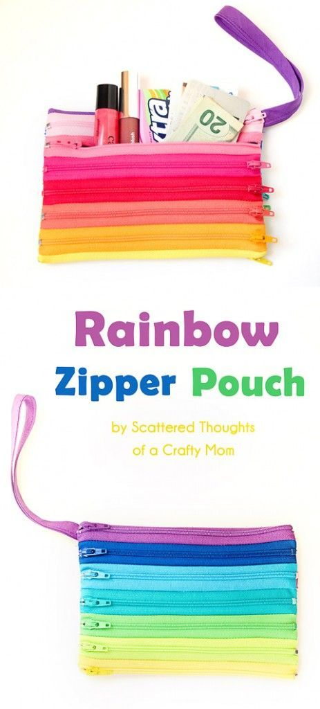Have a bunch of zippers laying around? Check out how to make an adorable pouch completely out of zippers! It makes the cutest gift.