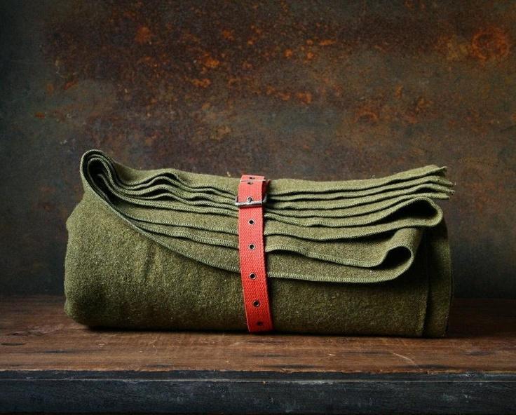 Vintage Army blanket, wool camp blanket. $28.00, via Etsy.