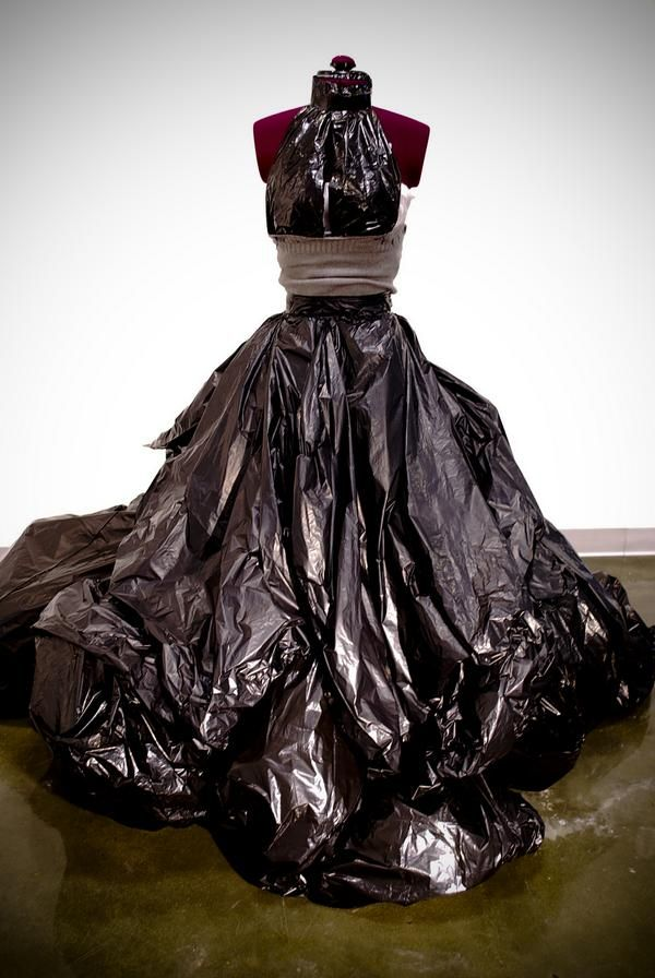 86 best images about trash bag and paper glam on pinterest for Recycle wedding dress ideas