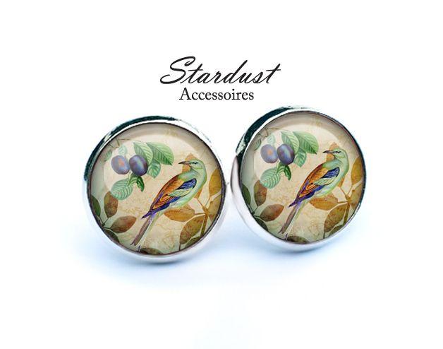 Ohrstecker silber ✿ bunter Vogel ✿ von Stardust Accessoires auf DaWanda.com