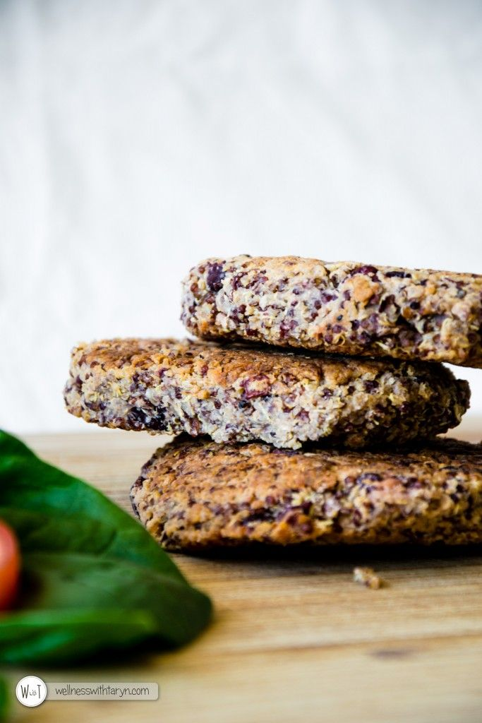 Quinoa and Kidney Bean Burger Patties | Wellness with Taryn