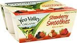 Yeo Valley Organic Strawberry Smoothies Bio Live Yogurts (4x120g) Cheapest in Tesco Today! On Offer Compare Prices at mySupermarket: Tesco (pound