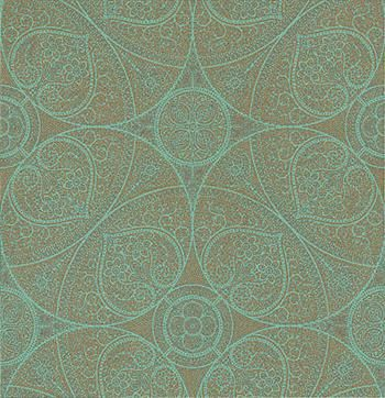 Yasmin Gold Turquoise wallpaper by Eijffinger