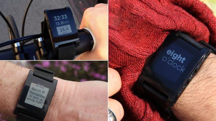 Pebble E-Ink Smartwatch - talks to iOS and Android smartphones!