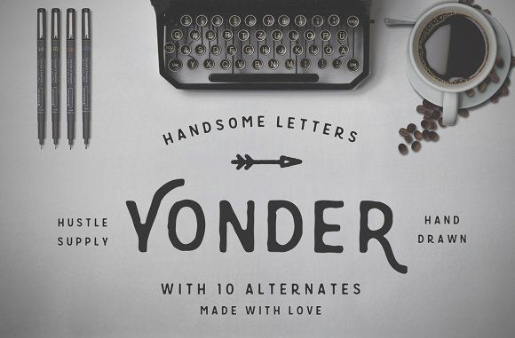 Yonder - Hand Drawn Font by Hustle Supply Co. on @creativemarket