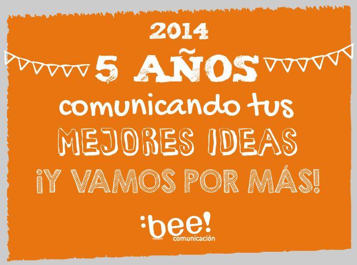 En Julio estamos festejando nuestro 5to. cumpleaños. En estos 5 años ayudamos a comunicar más de 40 industrias diferentes en 5 países con nuestros contenidos, capacitaciones y estrategias en Redes Sociales. http://beecomunicacion.com/celebracion-5-anos-bee-comunicacion/
