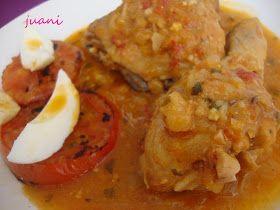 Chicken in pepitoria   Pollo en pepitoria y premio de Lolines gracias guapa   Las Cosillas Que Hago