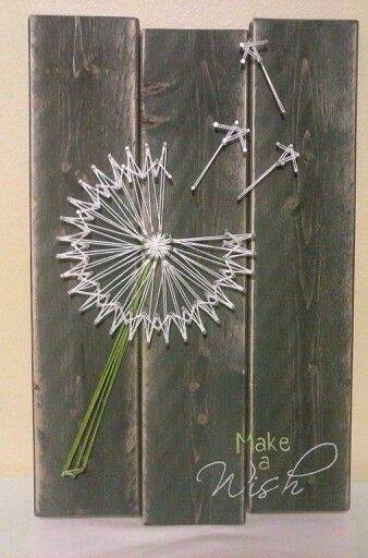 Make a Wish: Dandelion String Art by NailedAndHammered