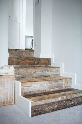 17 mejores ideas sobre escaleras r sticas en pinterest for Escaleras de madera rusticas