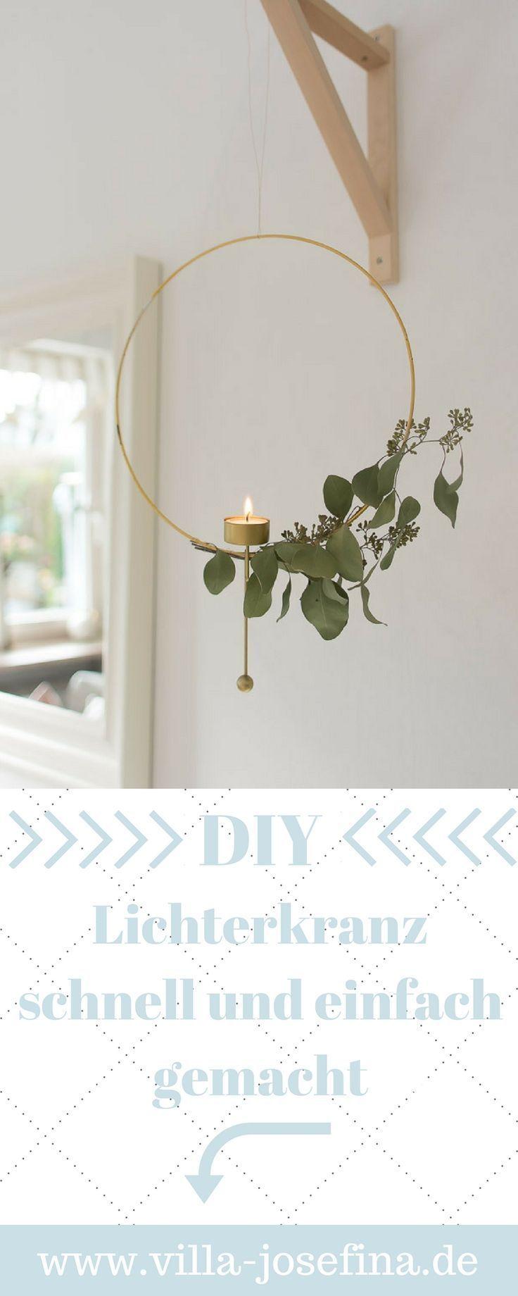 schnelles und einfaches Selbermachen für eine skandinavische Kerze, Eukalyptus, …   – DIY X-MAS / Weihnachten Dekoration