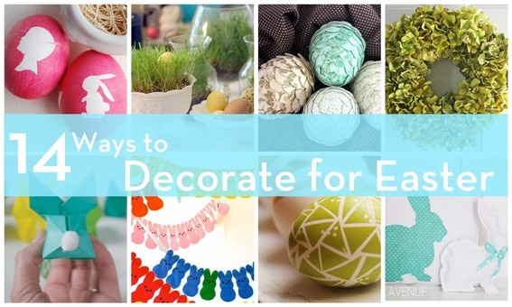 14 Stylish Easter Decor Ideas!: Decor Ideas, Easter Crafts, Easter Roundup, Holiday Decorating, 14 Decor, Spring Easter, Easter Spring, Easter Ideas