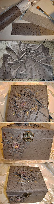 Replace skin for decoration ... vinyl wallpaper.  Master class from fljuida.