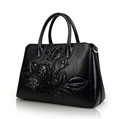 APHISON Designer Unique Embossed Floral Cowhide Leather Tote Style Ladies  Top Handle Bags Handbags Review 662a4784164f0