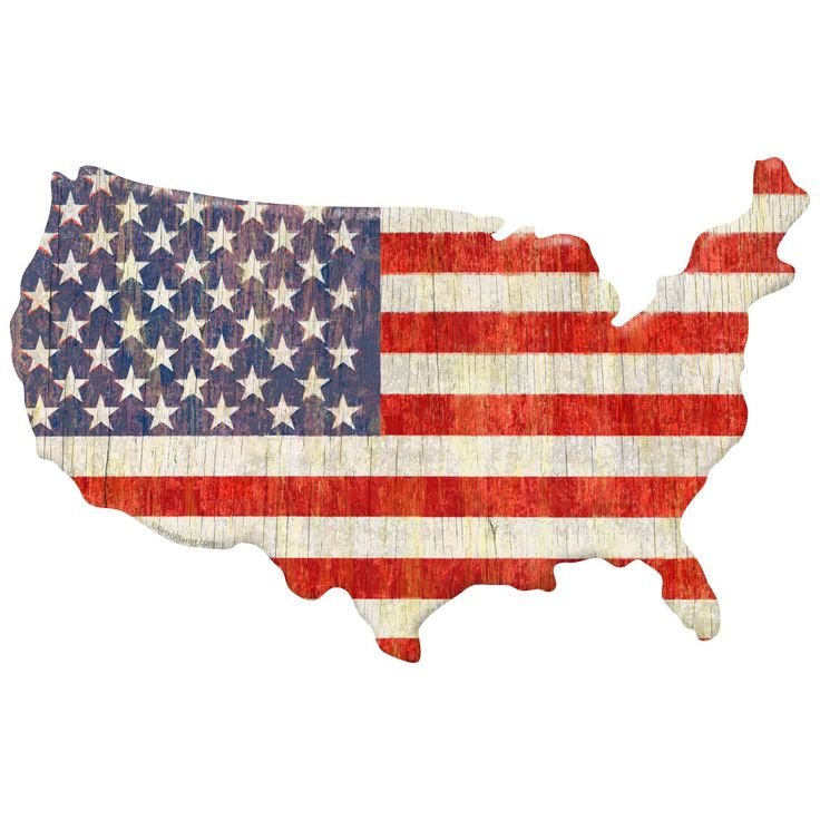 American Flag US Map Wall Sticker made of matte polyester fabric. Made in USA; sizes 12